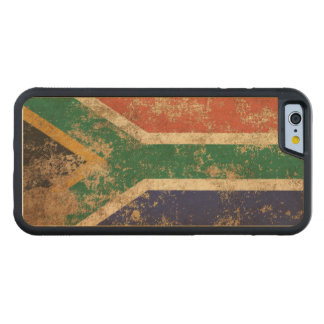 Rough Aged Vintage South African Flag Carved® Maple iPhone 6 Bumper Case