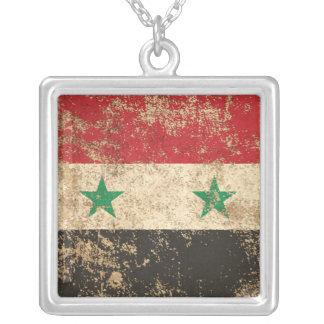 Rough Aged Vintage Syrian Flag Pendants
