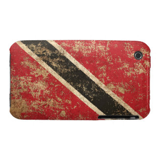 Rough Aged Vintage Trinidad and Tobago Flag Case-Mate iPhone 3 Cases