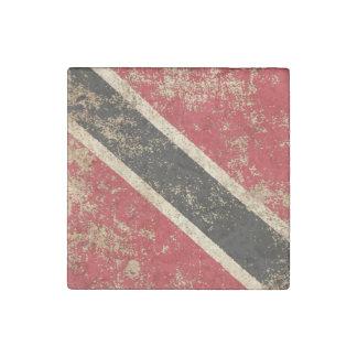 Rough Aged Vintage Trinidad and Tobago Flag Stone Magnet