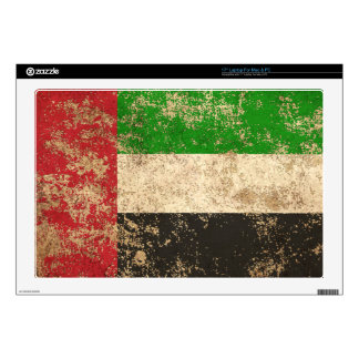 Rough Aged Vintage UAE Flag Laptop Skin
