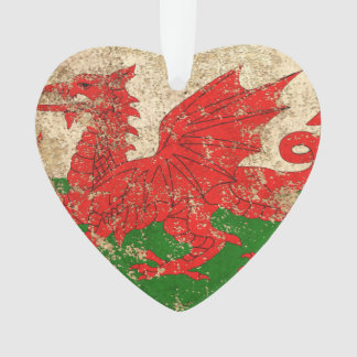 Rough Aged Vintage Welsh Flag