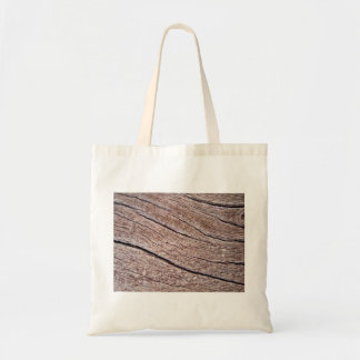 Rough Aged Wood Budget Tote Bag