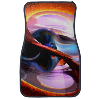 Rough Around the Edges Abstract Car Floor Mat