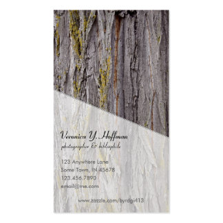 Rough Bark Double-Sided Standard Business Cards (Pack Of 100)