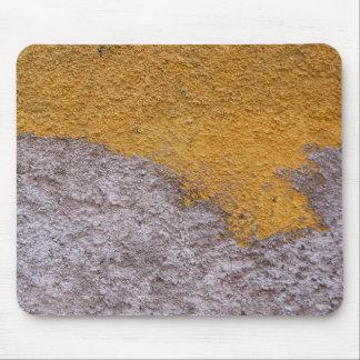 Rough Beton Gray Yellow Construction Wall Mouse Pad