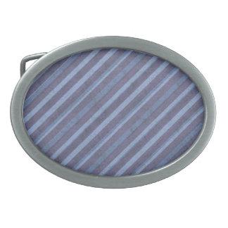 Rough Blue Purple Stripe Oval Buckle Oval Belt Buckle