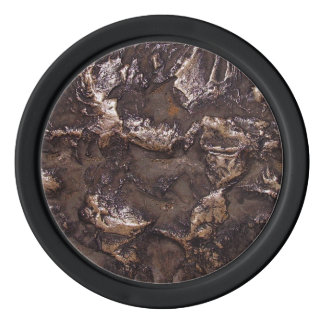 Rough bronze colored stone texture poker chips