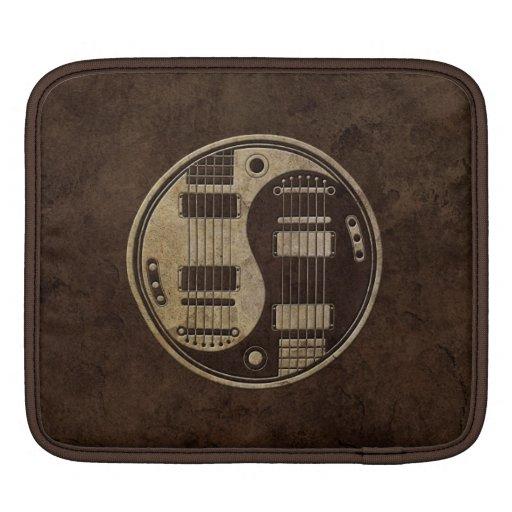 Rough Brown Electric Guitars Yin Yang iPad Sleeves