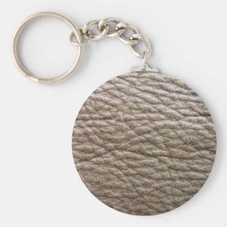 Rough brown faux leather texture, lots of creases keychain