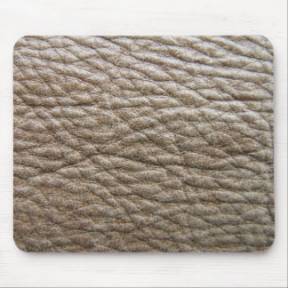 Rough brown faux leather texture lots of creases mouse pad