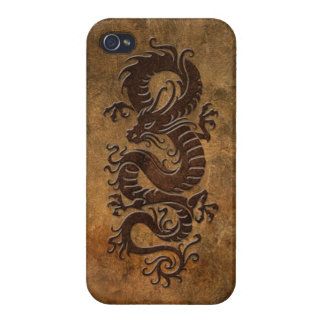 Rough Chinese Dragon Cases For iPhone 4