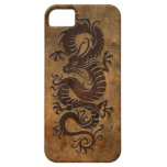 Rough Chinese Dragon iPhone 5 Cases