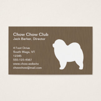 Rough Chow Chow Silhouette Business Card