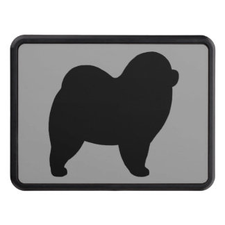 Rough Chow Chow Silhouette Trailer Hitch Covers