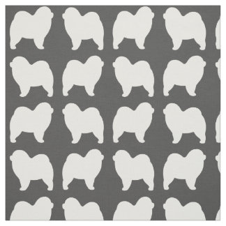 Rough Chow Chow Silhouettes Pattern Fabric