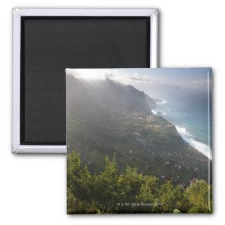 rough coast line of the atlantic island madeira 2 inch square magnet