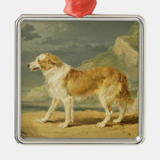 Rough-coated Collie, 1809 (oil on board) Metal Ornament