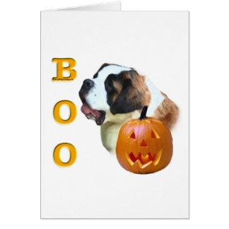 Rough Coated Saint Bernard Boo Greeting Card