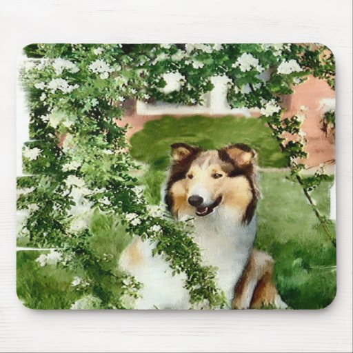 Rough Collie Art Gifts Mouse Mats