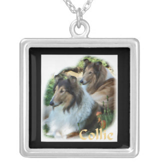 Rough Collie Art Gifts Necklaces