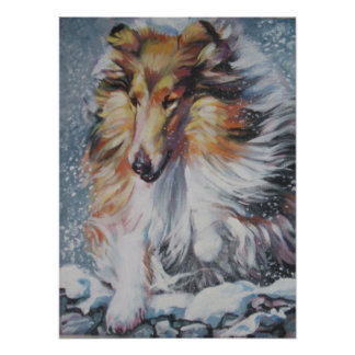 Rough Collie Art Print