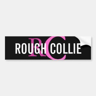 Rough Collie Breed Monogram Design Bumper Sticker