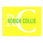 Rough Collie Breed Monogram Design Postcard
