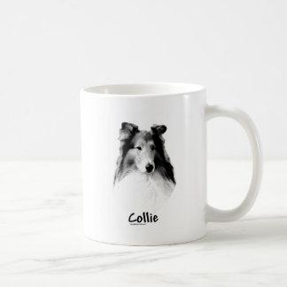 Rough Collie Charcoal Classic White Coffee Mug
