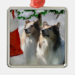 Rough Collie Christmas Gifts Ornaments