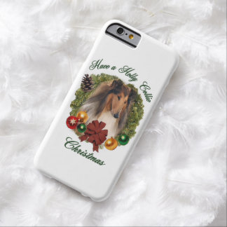 Rough Collie Christmas iPhone 6 Case