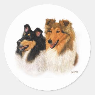 Rough Collie Classic Round Sticker