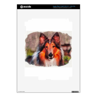 Rough Collie Decal For iPad 3