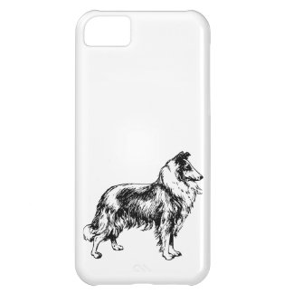 Rough Collie dog beautiful illustration gift Cover For iPhone 5C