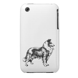 Rough Collie dog beautiful illustration gift iPhone 3 Covers