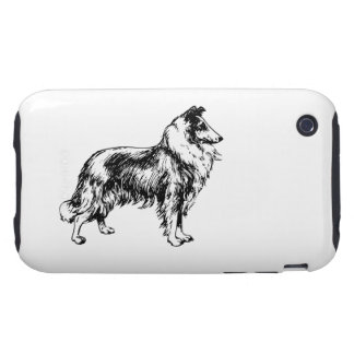 Rough Collie dog beautiful illustration gift Tough iPhone 3 Case