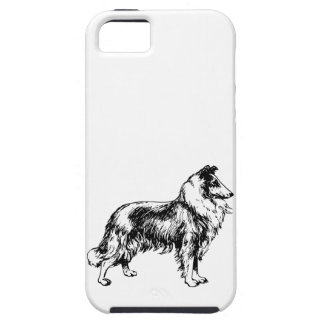 Rough Collie dog beautiful illustration gift iPhone 5 Case