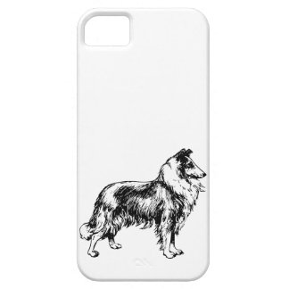 Rough Collie dog beautiful illustration, gift iPhone SE/5/5s Case