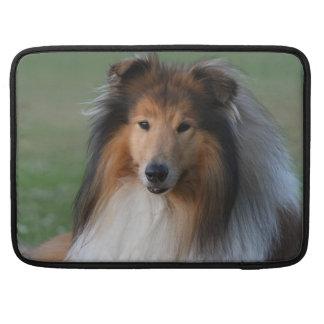 Rough collie dog beautiful macbook pro sleeve