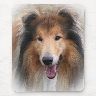 Rough collie dog beautiful photo mousepad