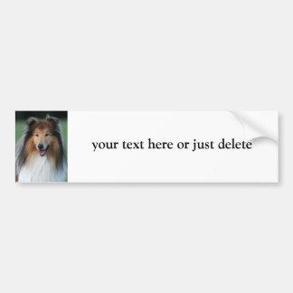 Rough Collie dog custom bumper sticker