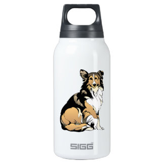 Rough Collie Dog Insulated Water Bottle