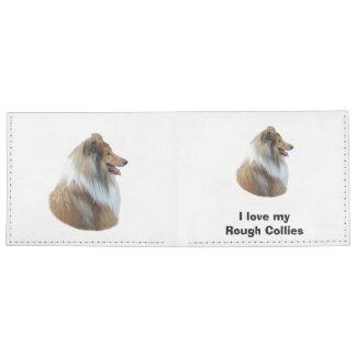 Rough Collie dog portrait photo Billfold Wallet