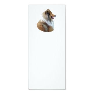 Rough Collie dog portrait photo 4x9.25 Paper Invitation Card