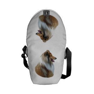 Rough Collie dog portrait photo Messenger Bag