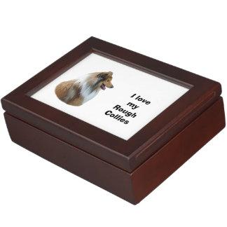 Rough Collie dog portrait photo Keepsake Box