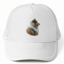 Rough Collie dog portrait photo Trucker Hat