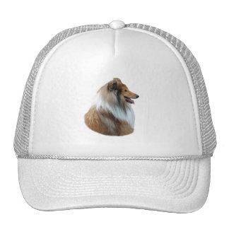 Rough Collie dog portrait photo Trucker Hat