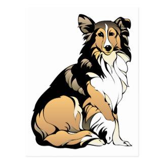 Rough Collie Dog Postcard