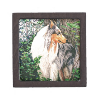 Rough Collie Gift Box Premium Jewelry Boxes
